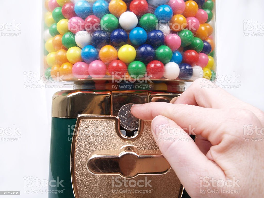 Gumball Please royalty-free stock photo