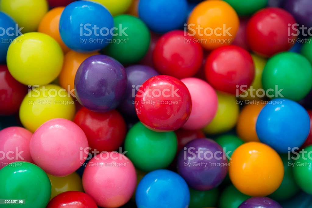 Gumballs background stock photo