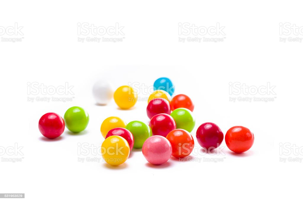 Gumballs on White stock photo