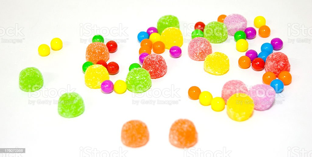 Gumdrops and Candies royalty-free stock photo