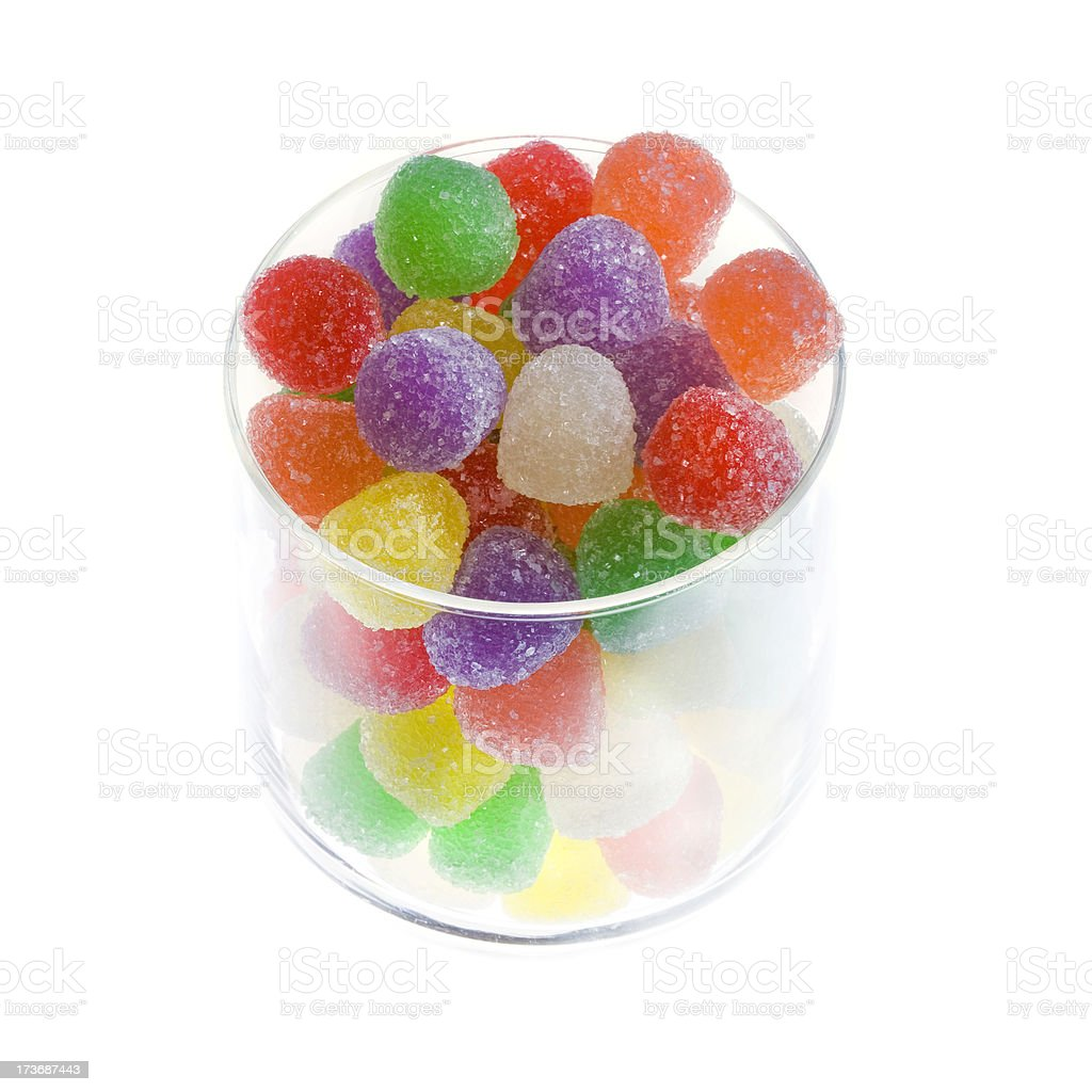 Gumdrops in a jar royalty-free stock photo