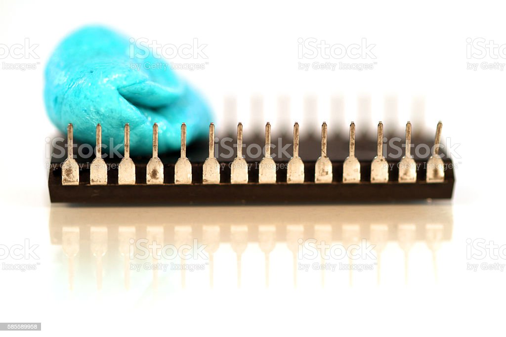 Gummed Up Circuits stock photo