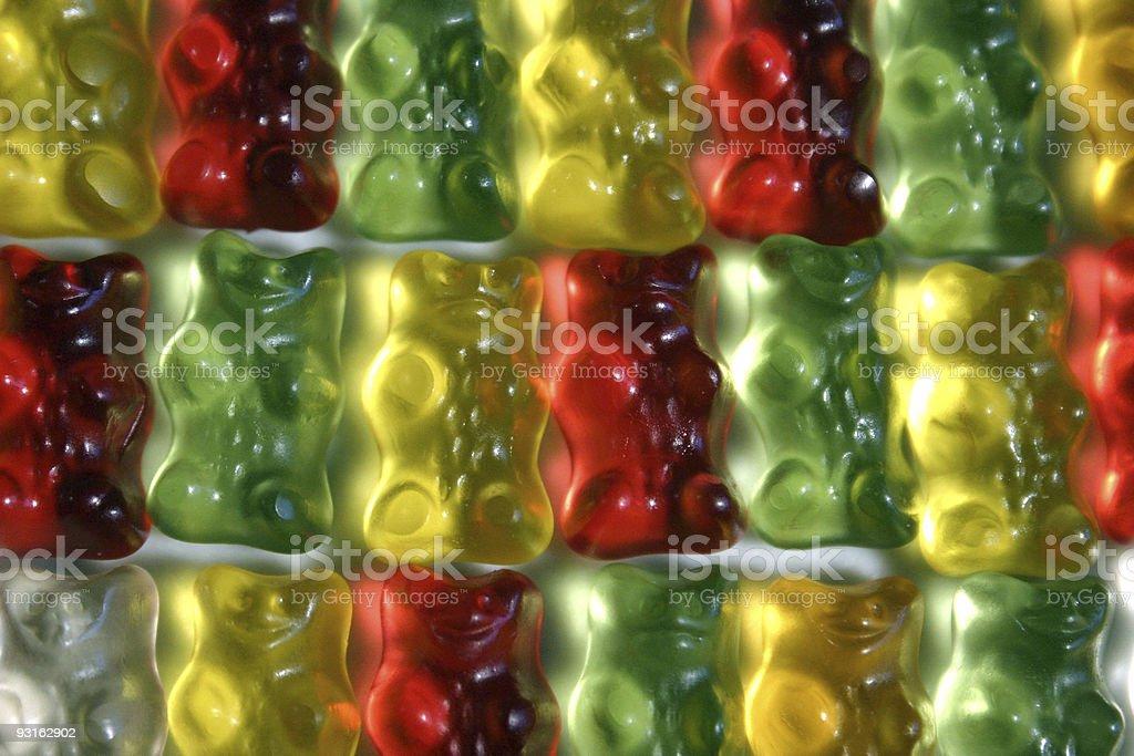 Gummibears pattern royalty-free stock photo