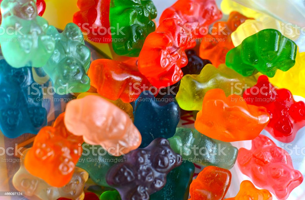 Gummy Bear Background stock photo