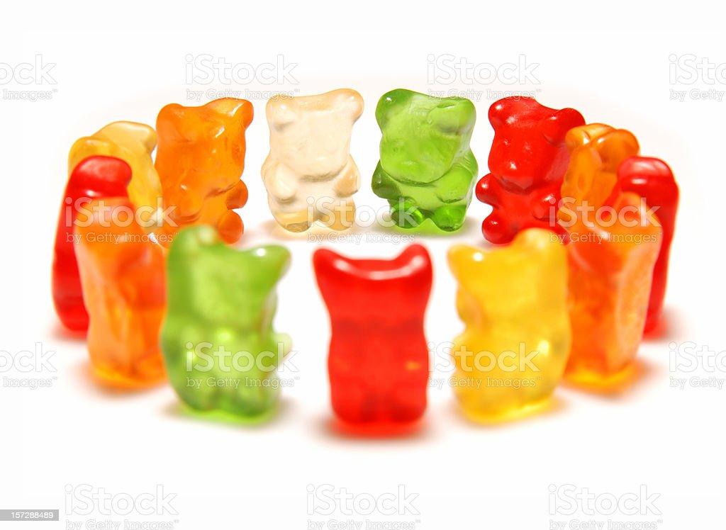 Gummy bear meeting stock photo