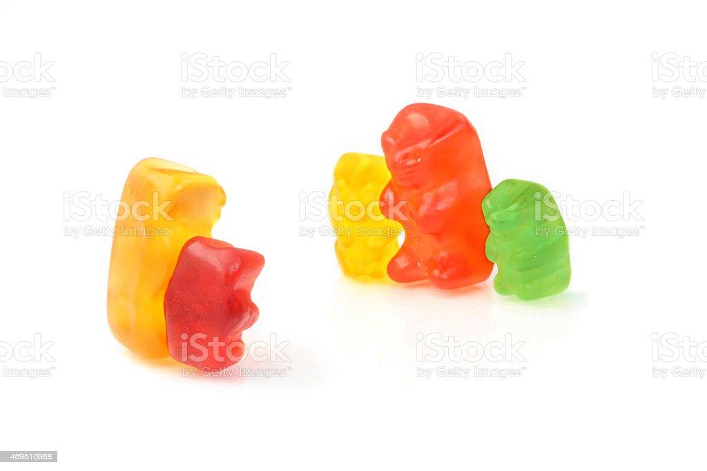 Gummy bear - single-parent meets single-parent stock photo