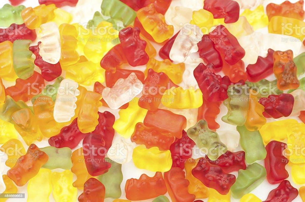 gummy bears background stock photo