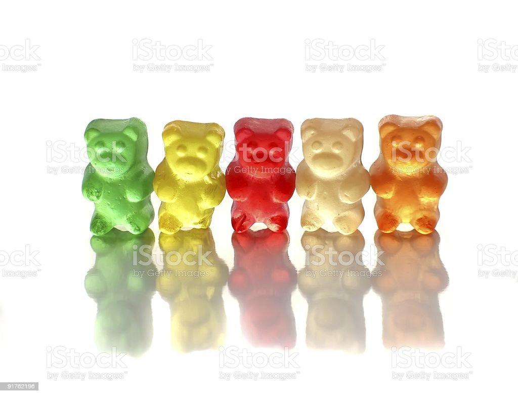 Gummy bears on white royalty-free stock photo