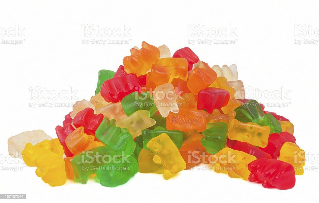 Gummy bears stack stock photo