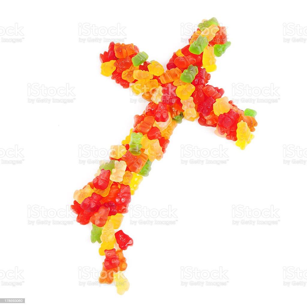 Gummy Cross royalty-free stock photo