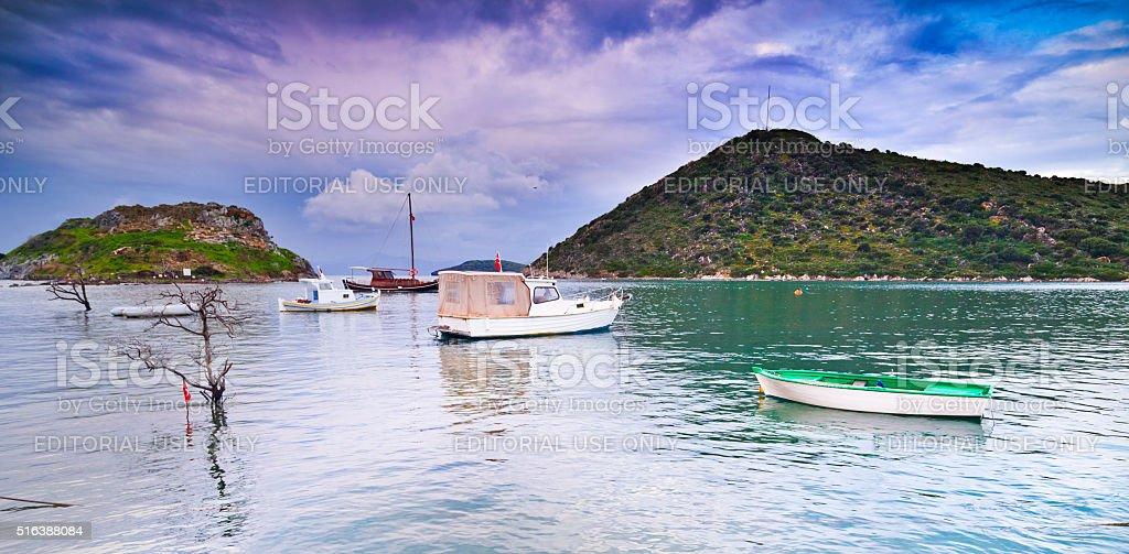 Gumusluk, Bodrum stock photo