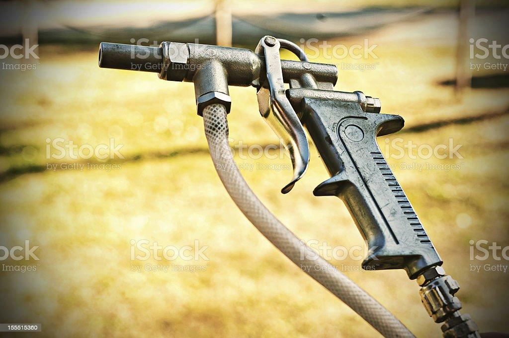 Gun air compressor stock photo
