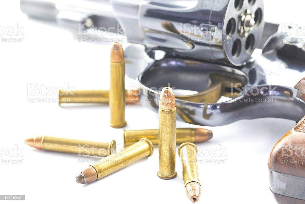 gun and bullets royalty-free stock photo
