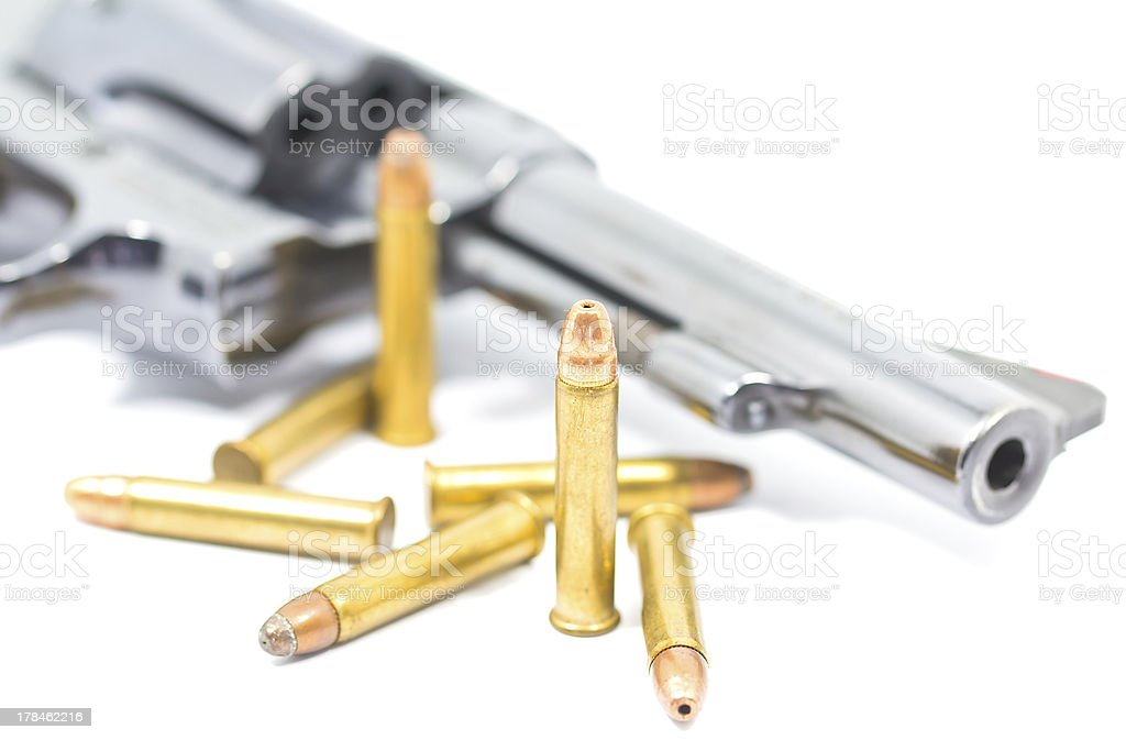 gun and bullets royalty-free stock photo