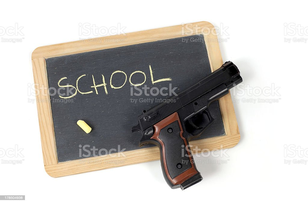 gun and school royalty-free stock photo