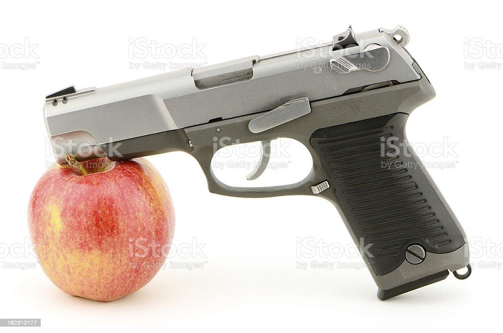 Gun Apple royalty-free stock photo