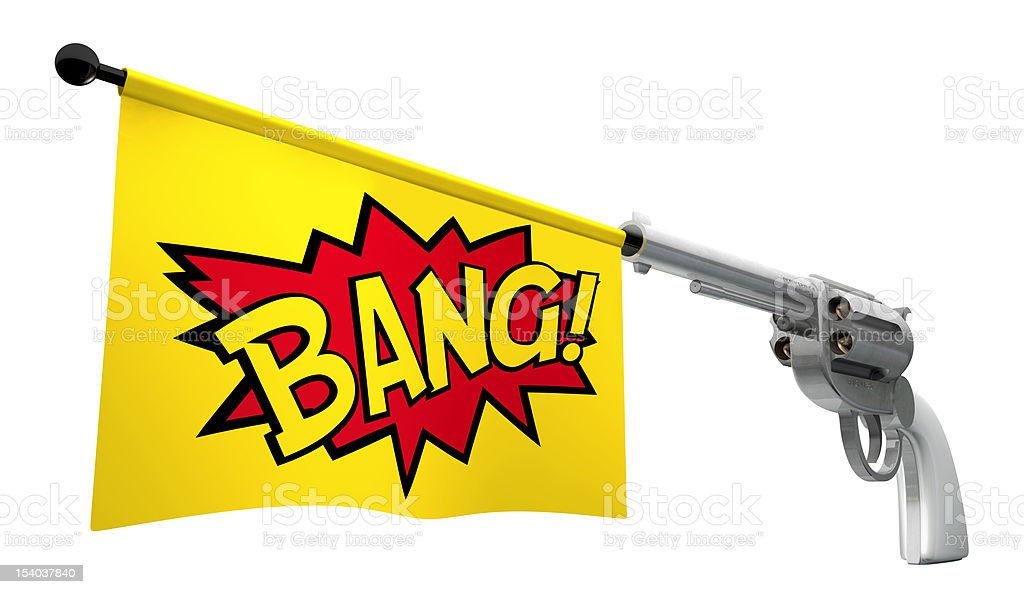 Gun Bang stock photo