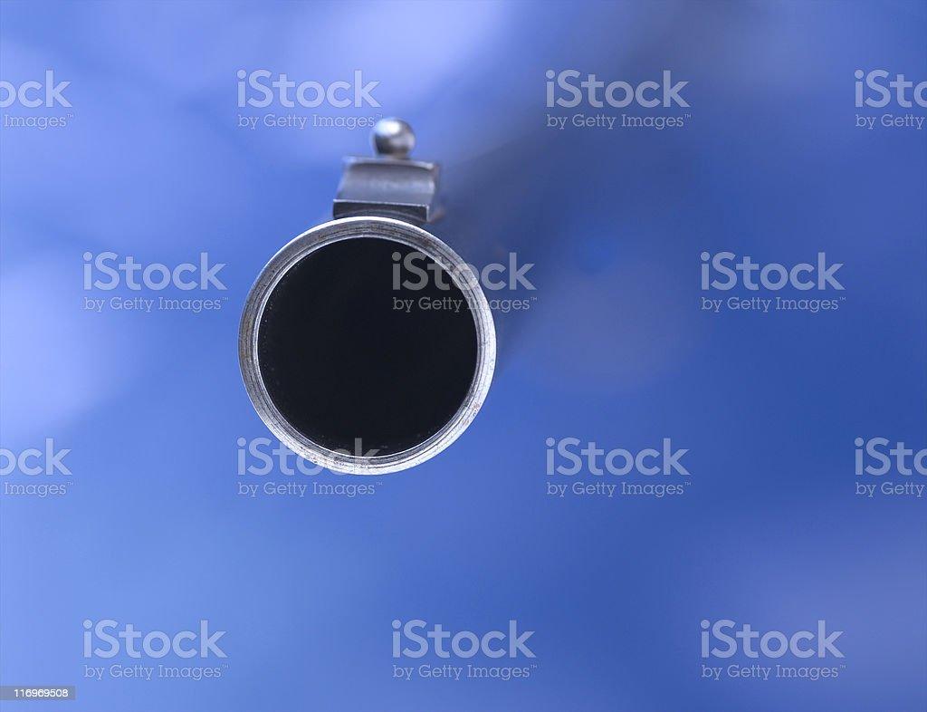 Gun Barrel royalty-free stock photo