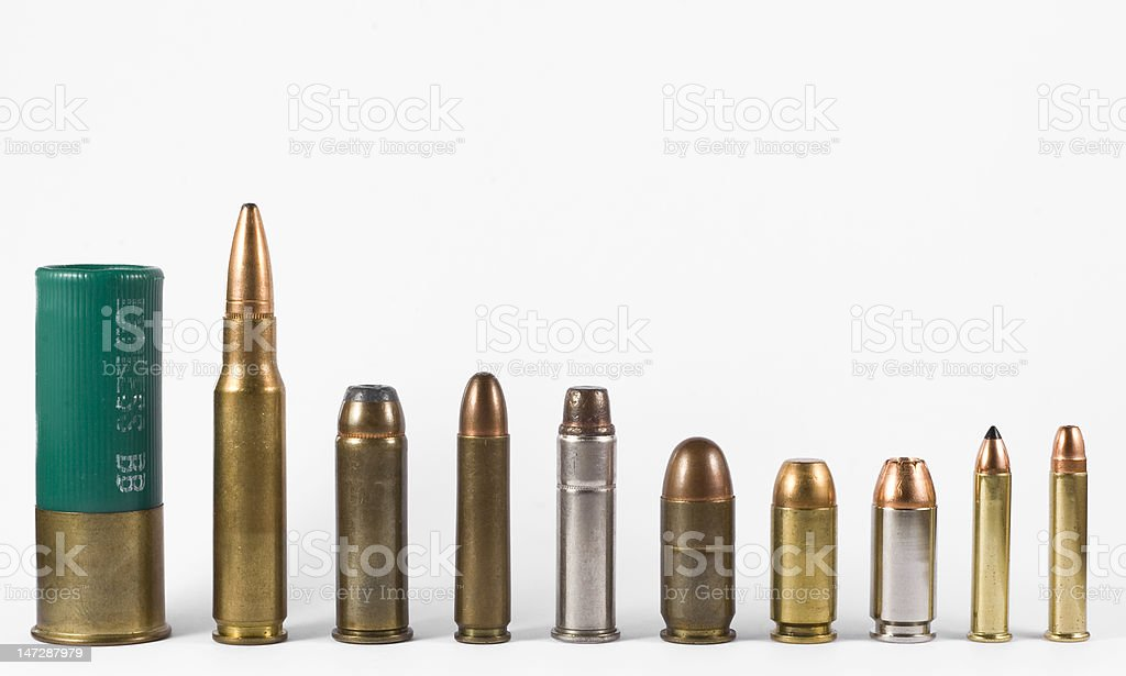 gun bullets stock photo