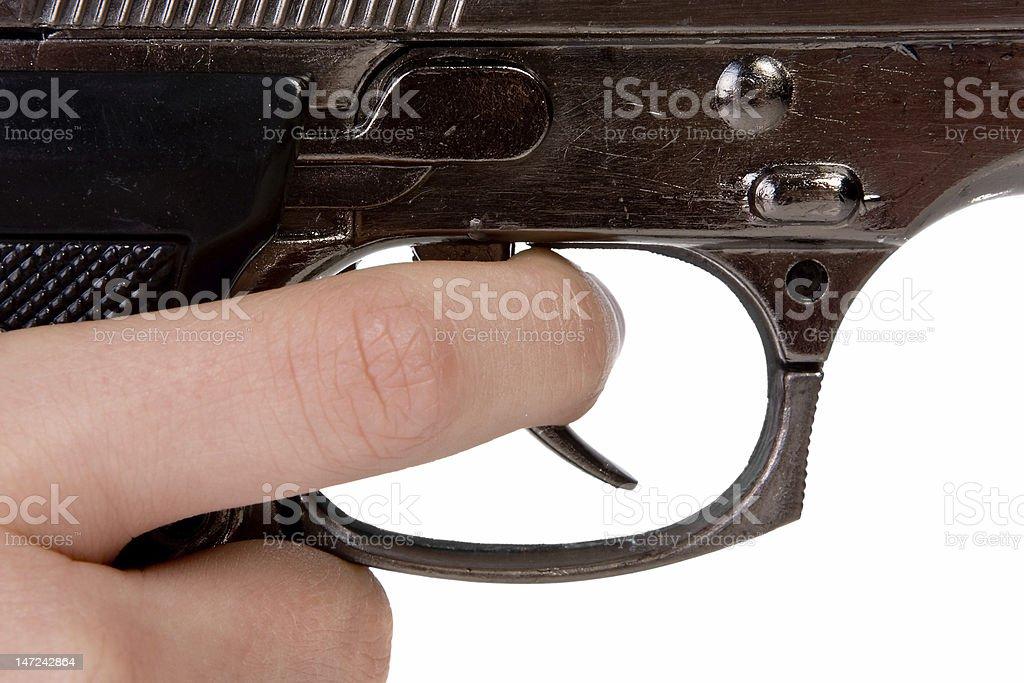 Gun close-up royalty-free stock photo