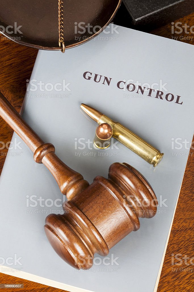 Gun control royalty-free stock photo
