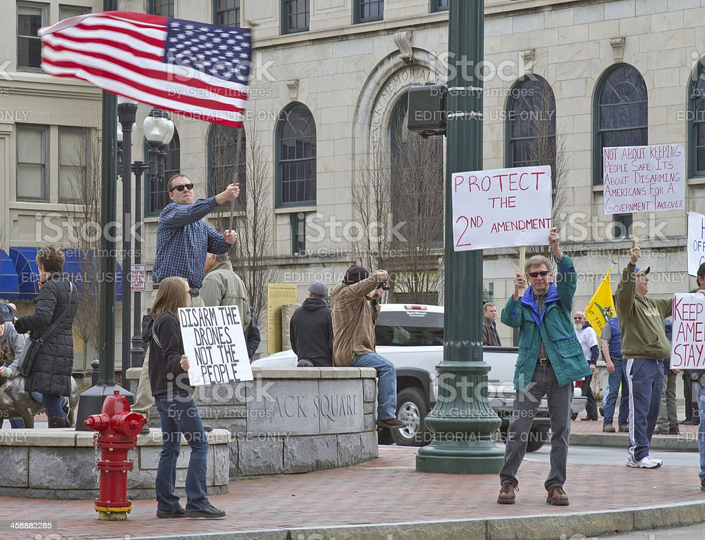 Gun Control Protest Rally in Asheville, North Carolina royalty-free stock photo