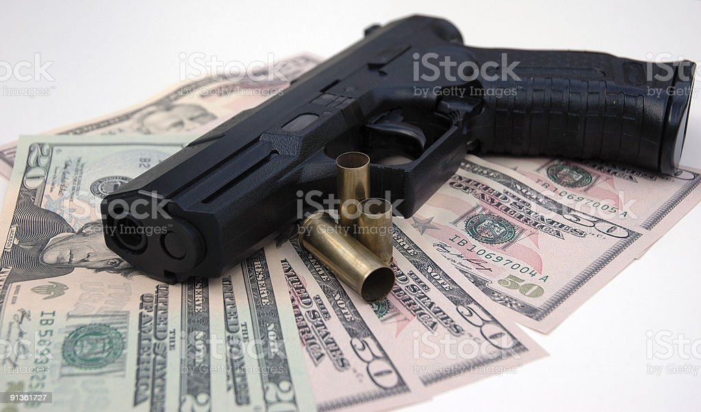 Gun Crime royalty-free stock photo