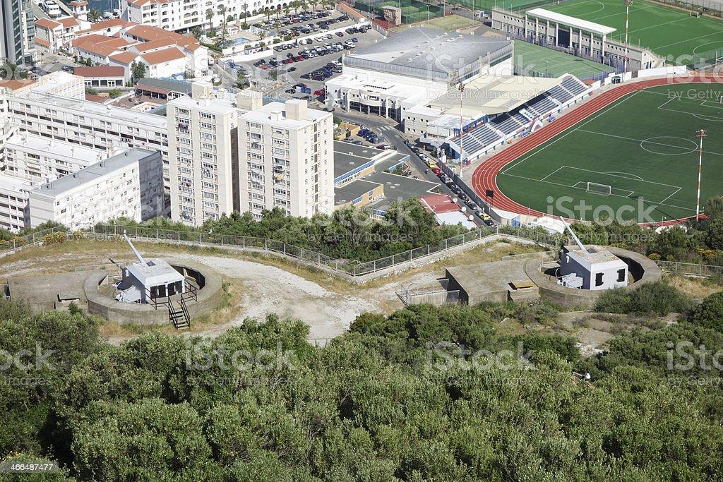 Gun Emplacements Gibraltar stock photo