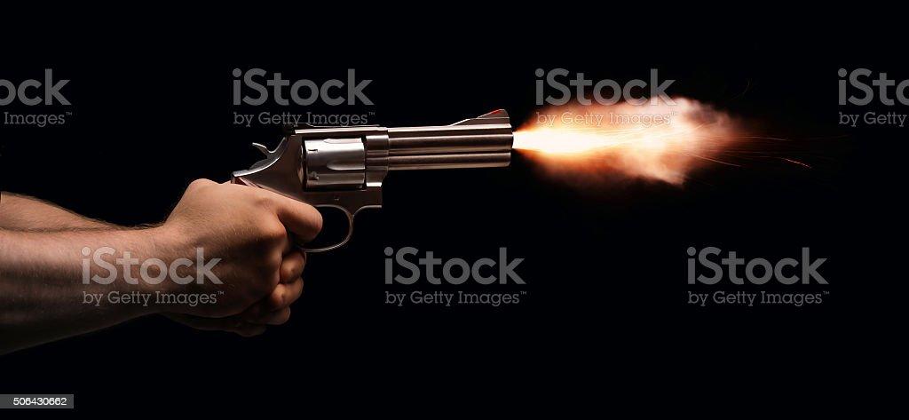 Gun Fire stock photo