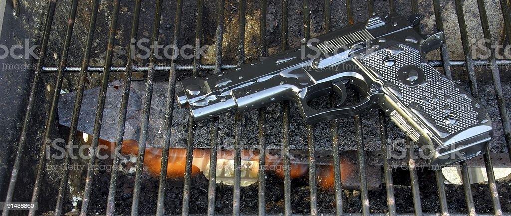 gun fire royalty-free stock photo