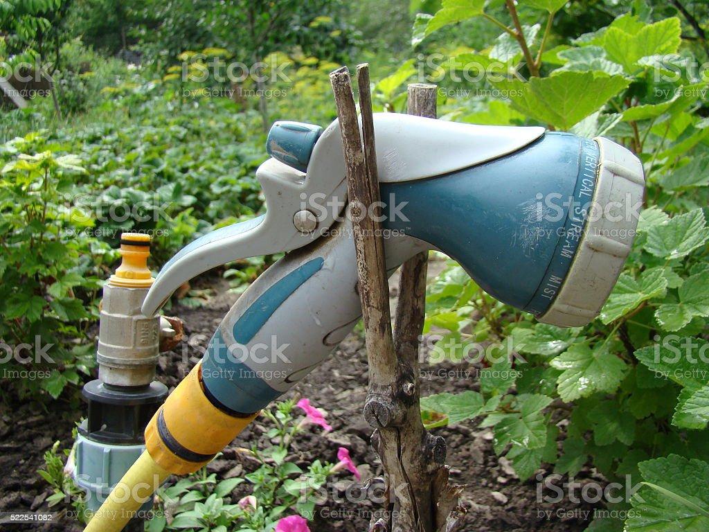 Gun for irrigation stock photo