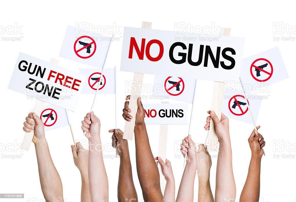 Gun free zone. stock photo