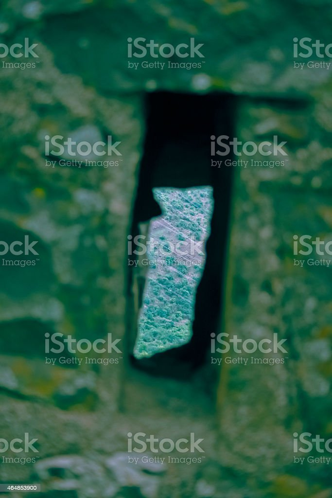 Gun Hole at Malhargad, Sonori Fort, India stock photo