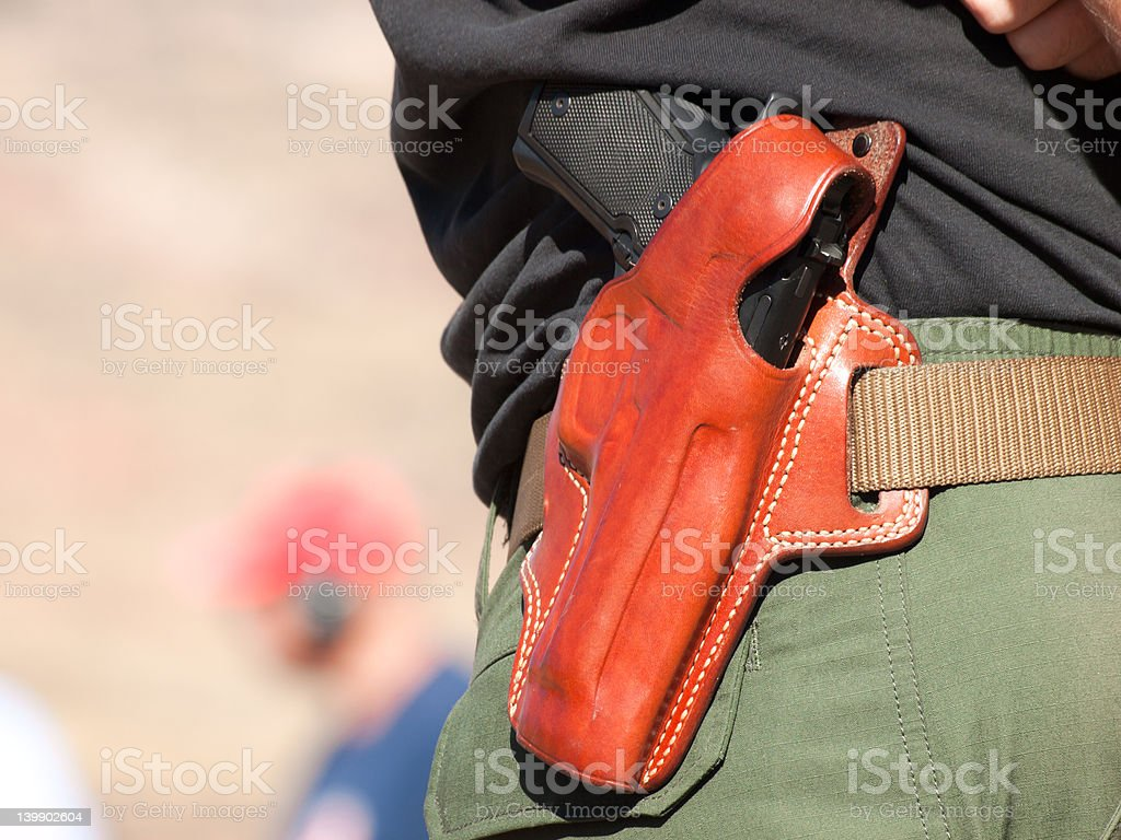 Gun holster stock photo