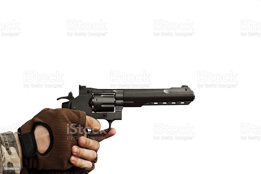gun in hand royalty-free stock photo