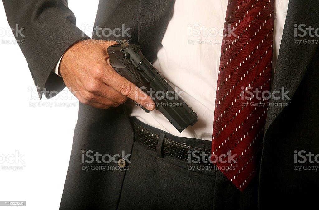 Gun in Waistband royalty-free stock photo