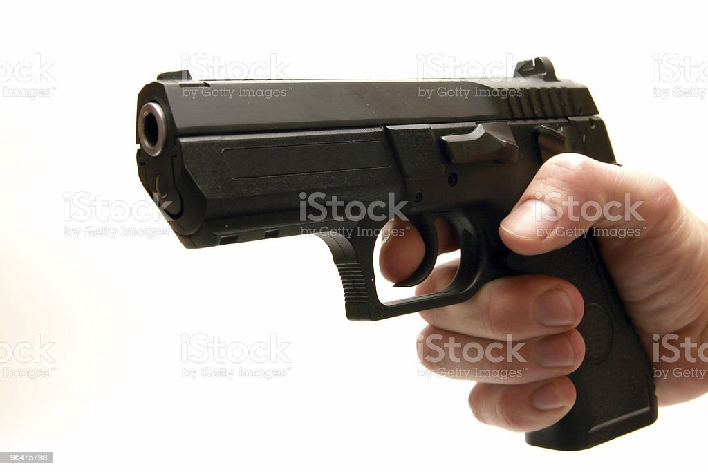 Gun - isolated on white background royalty-free stock photo