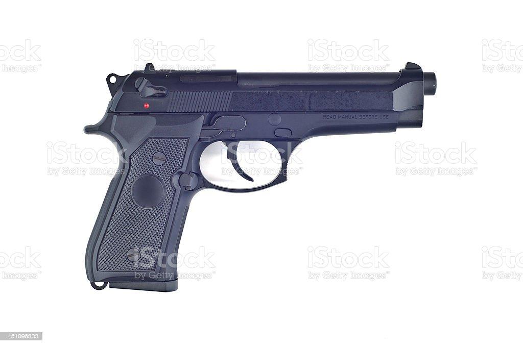 Gun isolated. stock photo