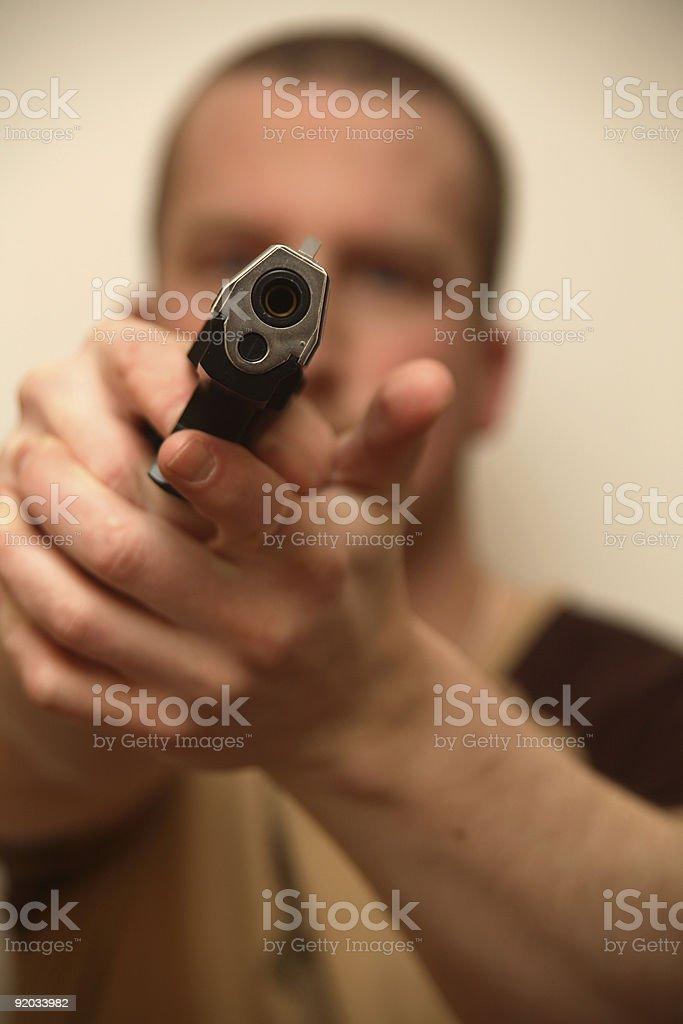 Gun Man (diagnol) royalty-free stock photo