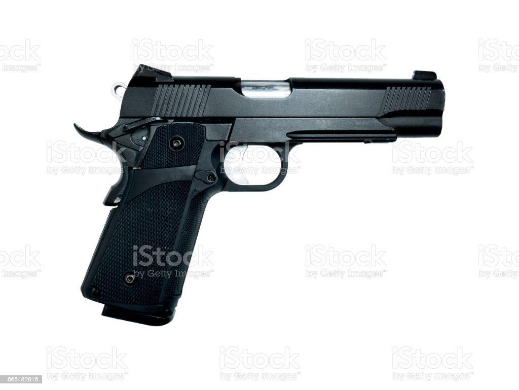 Gun model isolated on white background with clipping path stock photo