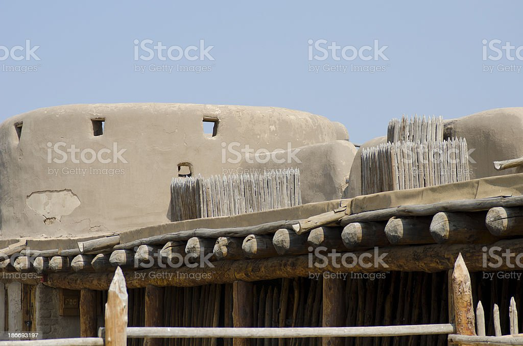 Gun Ports at Bent's Old Fort National Historic Site stock photo