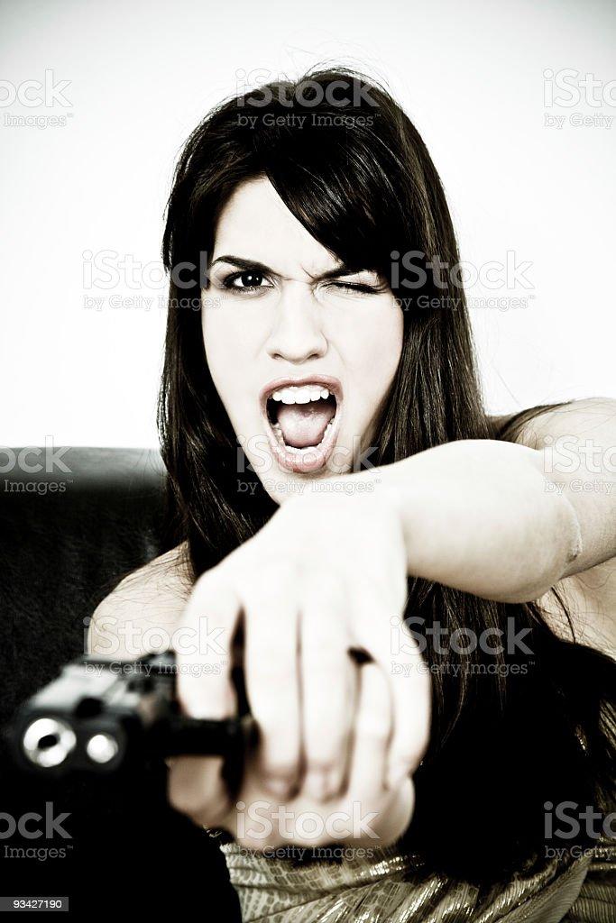 gun power beauty royalty-free stock photo