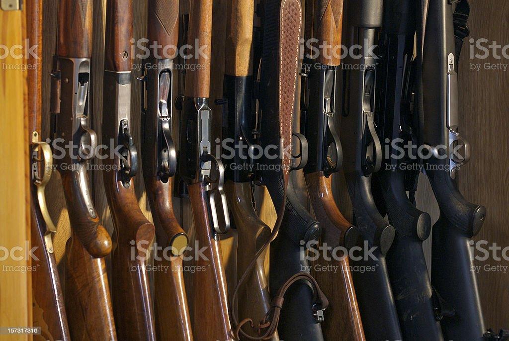 Gun Rack stock photo