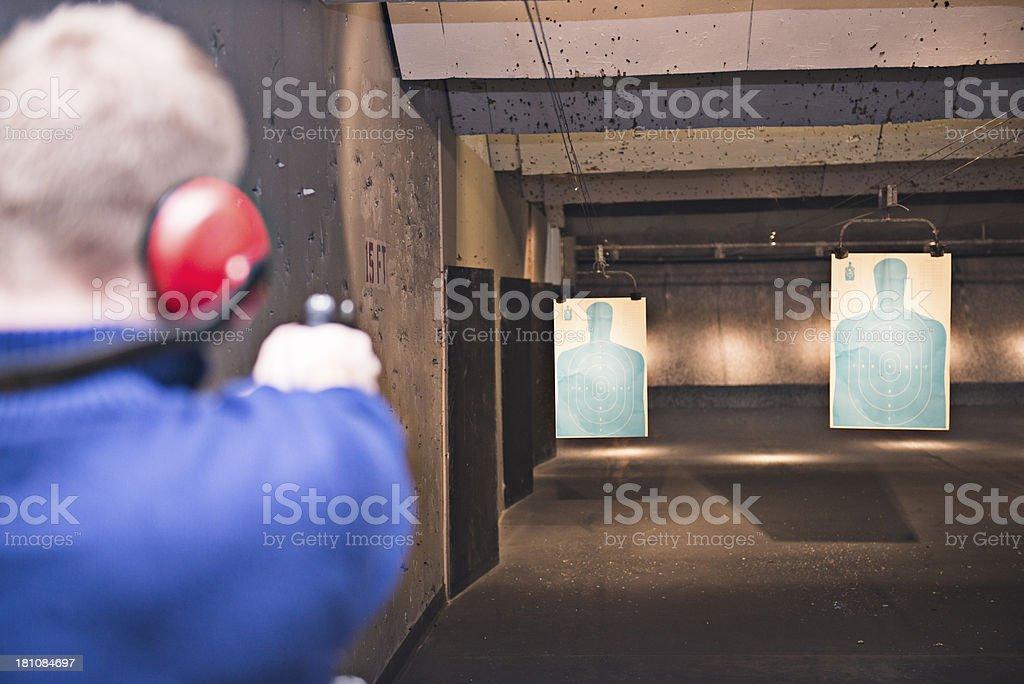 Gun Range stock photo