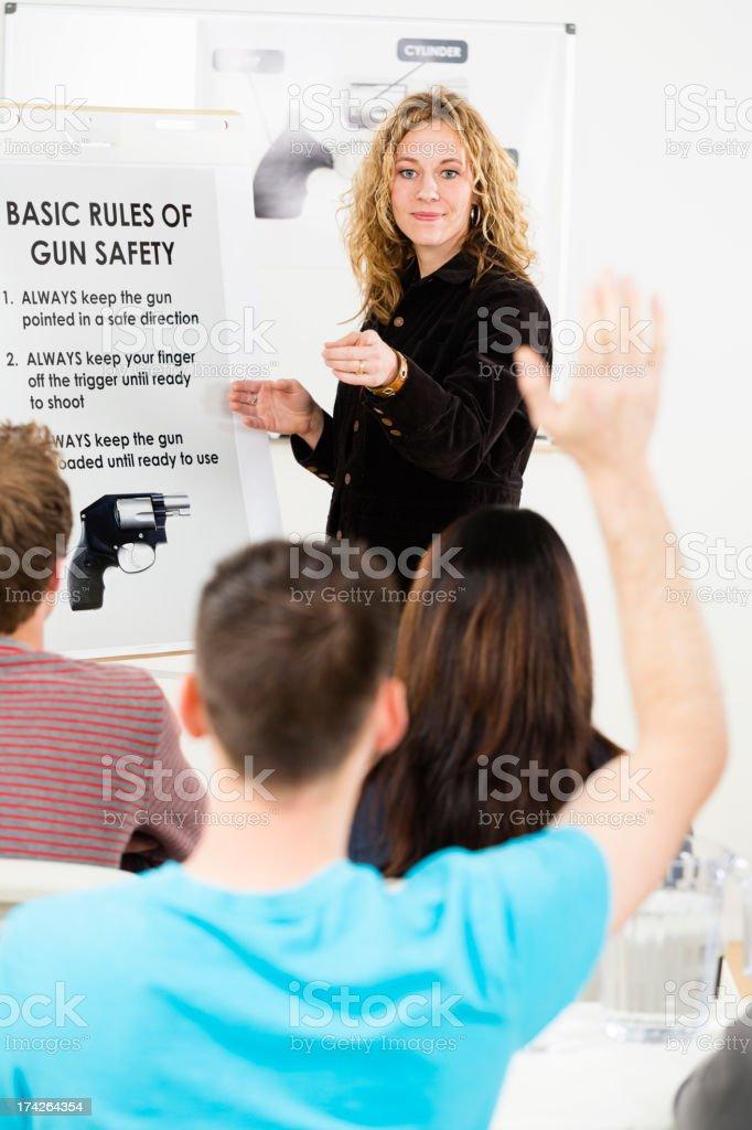 Gun Safety Class stock photo