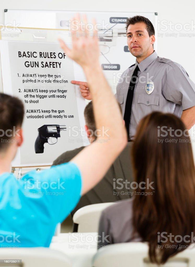 Gun Safety Class royalty-free stock photo
