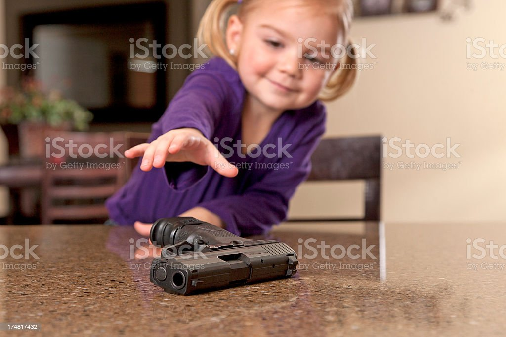 Gun Safety stock photo