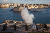 un salute at the Saluting Battery above Valletta Grand Harbour