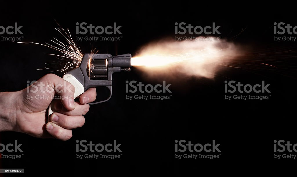 gun shooting royalty-free stock photo