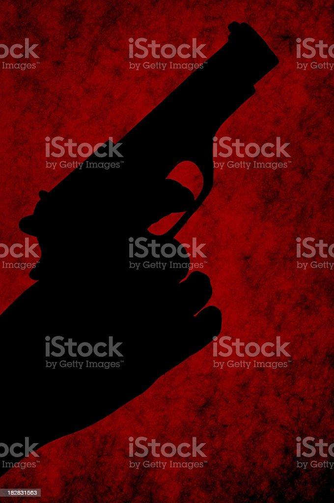 Gun Silhouette royalty-free stock photo
